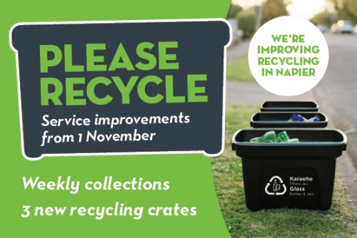 We're improving recycling in Napier
