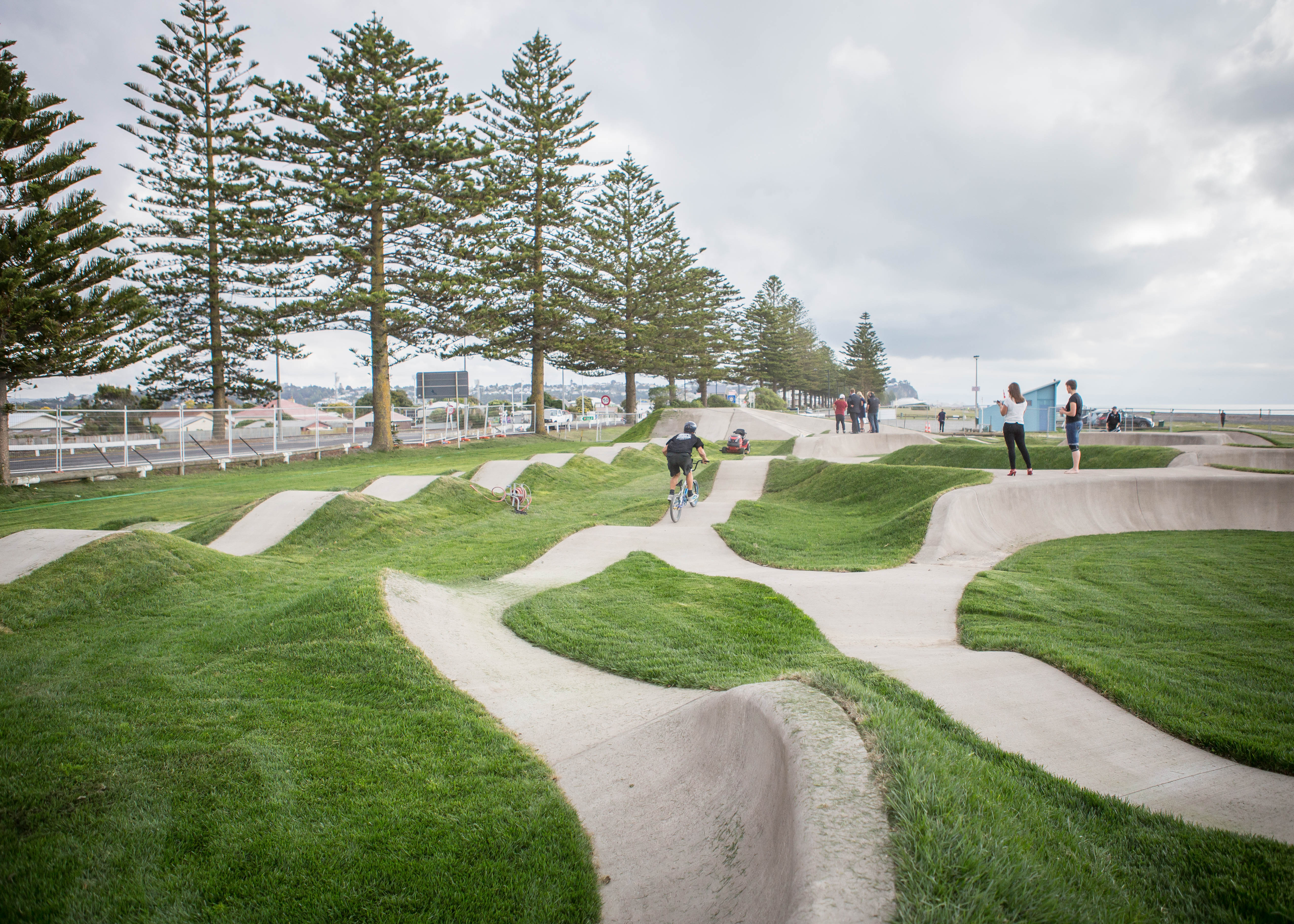 The completed pump track march 2015