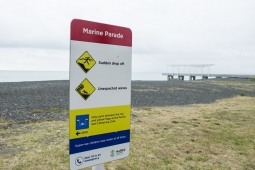 Marine Parade Beach Safety Signage Dec 2017 news