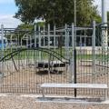 Fenced play area at Maraenui Shops Reserve Playground
