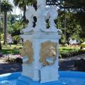 Close up of Blythe Memorial Fountain after re-painting.