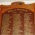 Roll of Honour in King George's Hall January 2011.