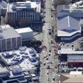 Aerial View of the first stage of the Hastings Street redevelopment on 12 July 2012.