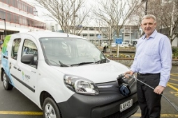 NCC CE Wayne Jack and new electric vehicle small