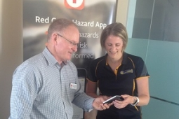 Red Cross Hazard App launch small