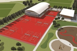 Tennis Clay Courts Artist's Impression