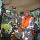 Napier City Council staff member drives tractor