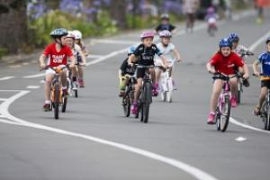 Cycling carnival kids